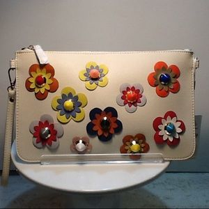 Flower studded clutch by Urban Expression NEW